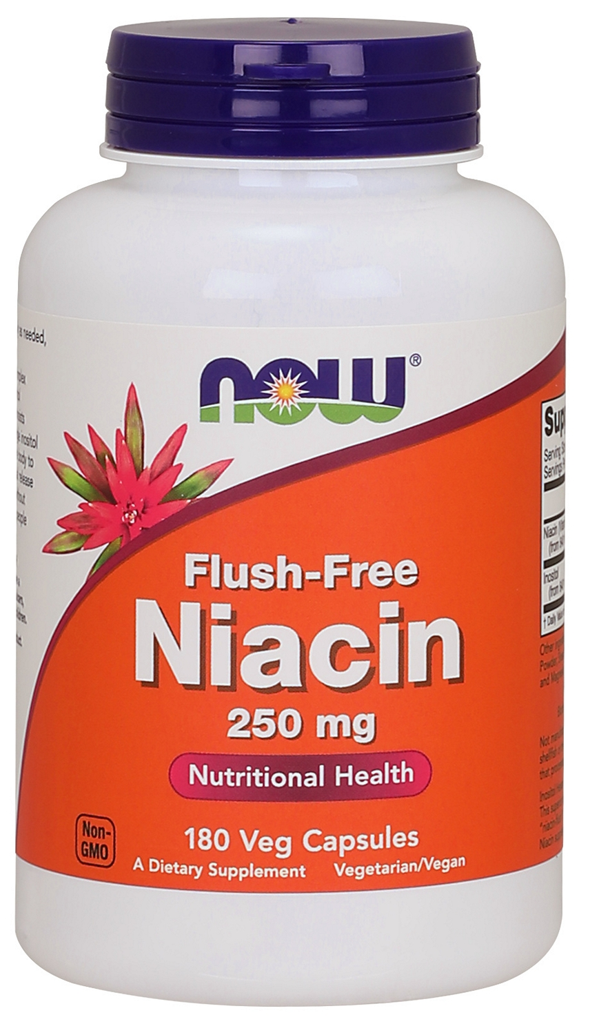 Flush-Free Niacin 250 mg 180 Vcaps by NOW