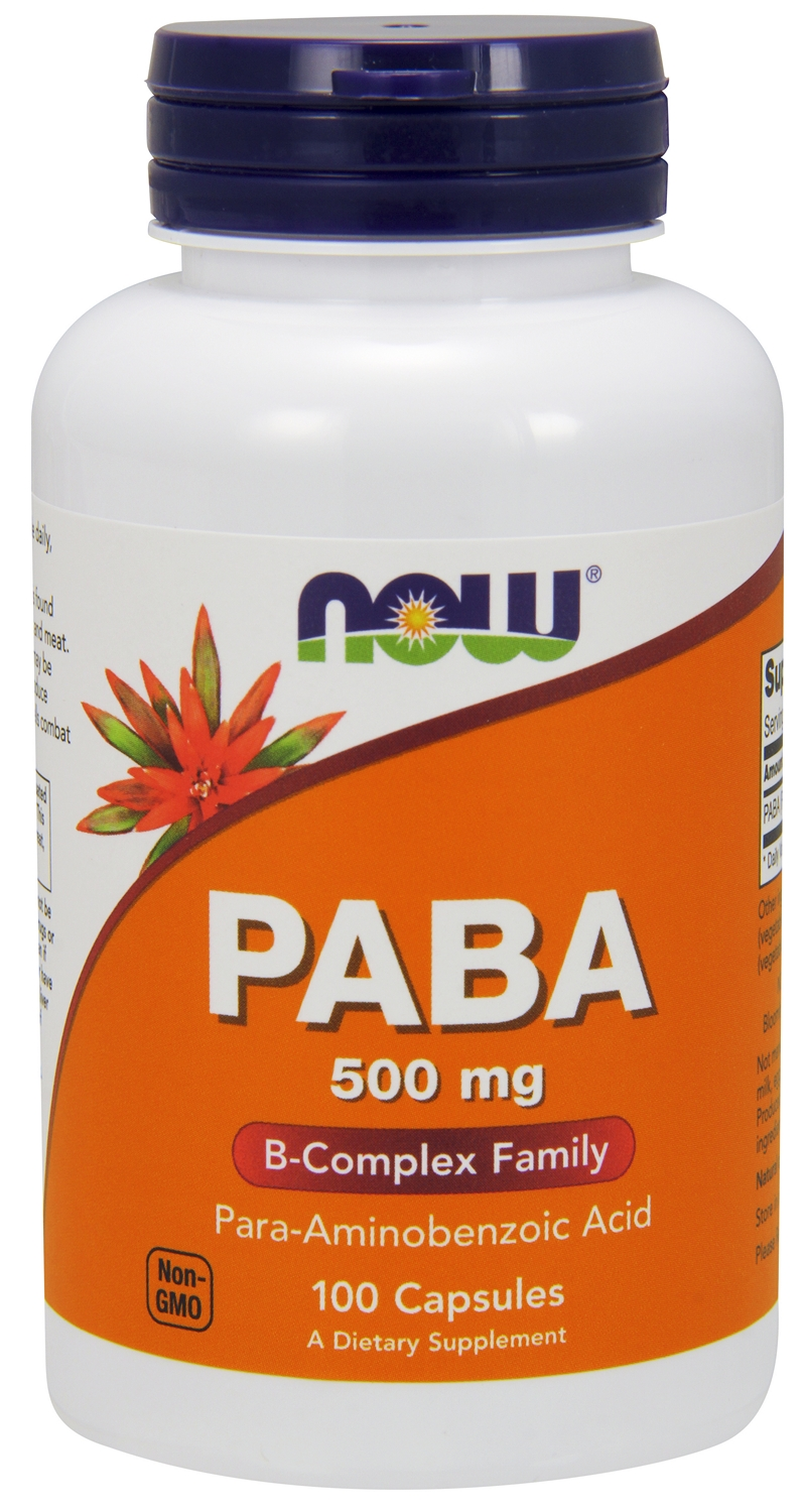 PABA 500 mg 100 caps by NOW