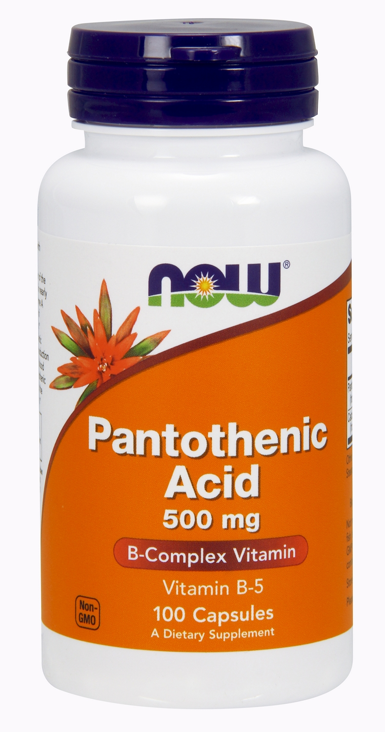 Pantothenic Acid 500 mg 100 caps by NOW