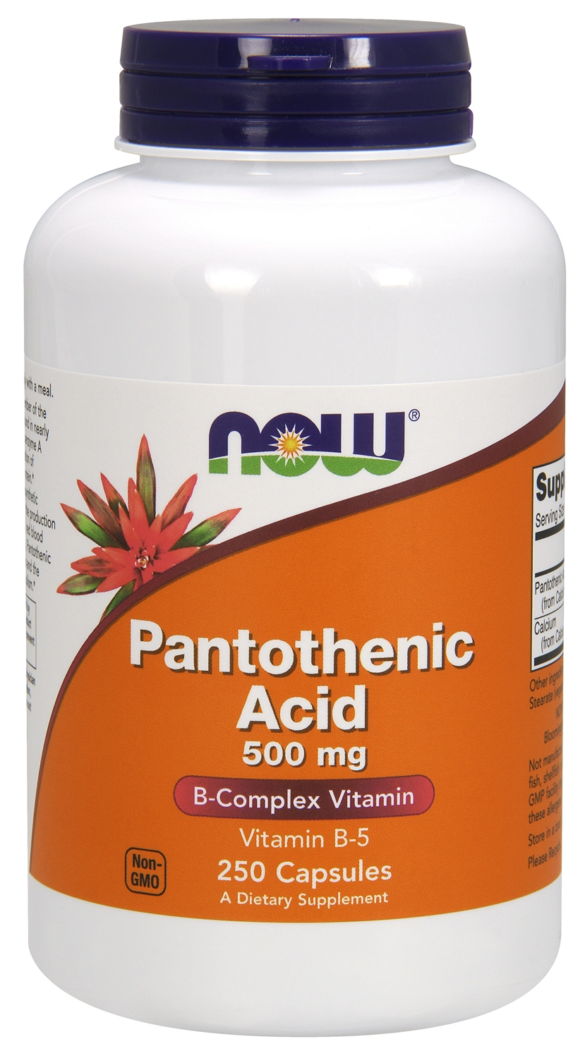 Pantothenic Acid 500 mg 250 caps by NOW