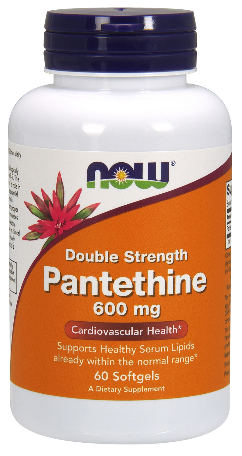 Pantethine Double Strength 600 mg 60 sgels by NOW