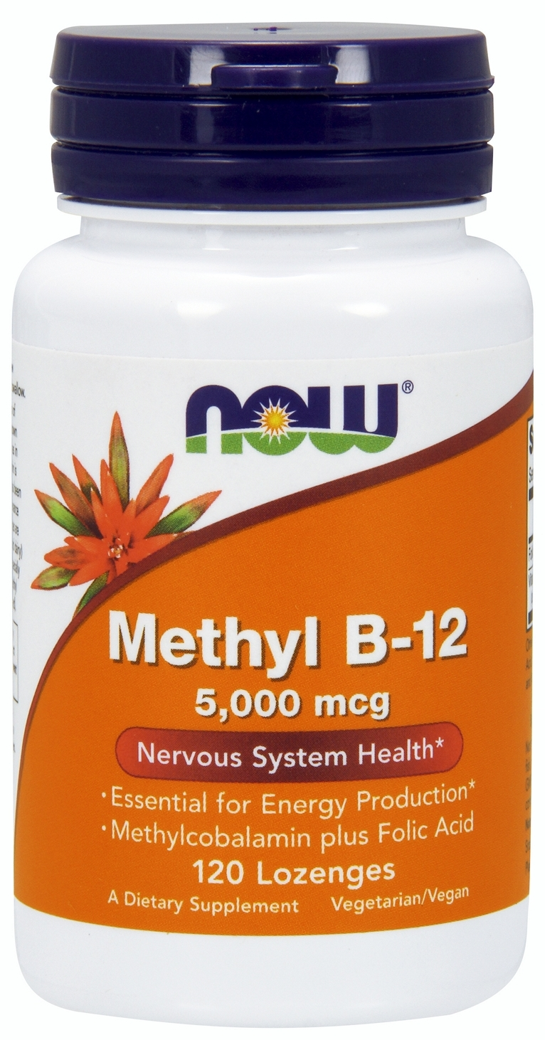 Methyl B-12 5000 mcg 120 Lozenges by NOW Foods