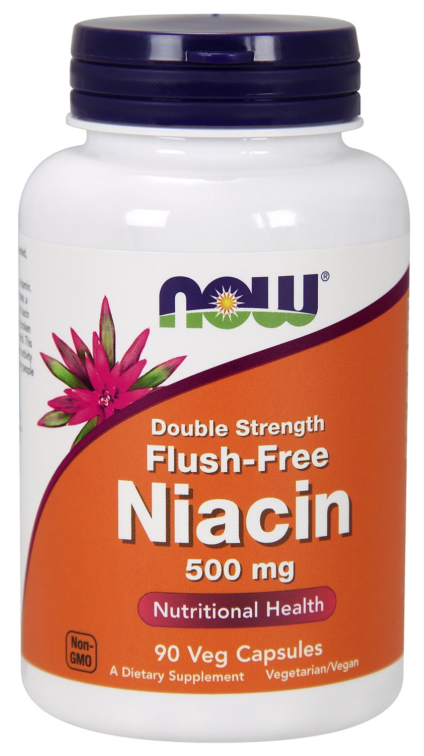 Flush-Free Niacin Double Strength 500 mg 90 Vcaps by NOW