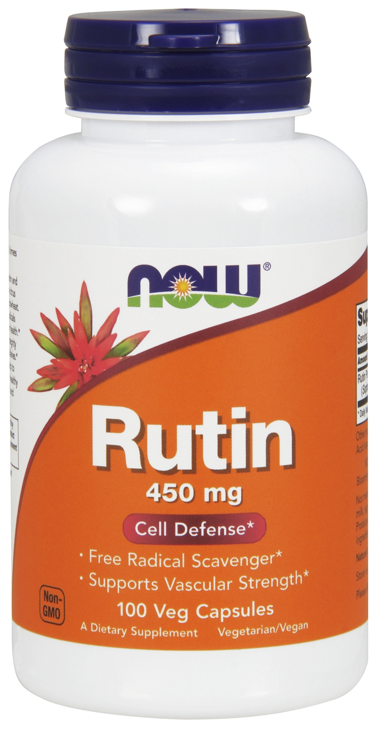 Rutin 450 mg 100 Vcaps by NOW