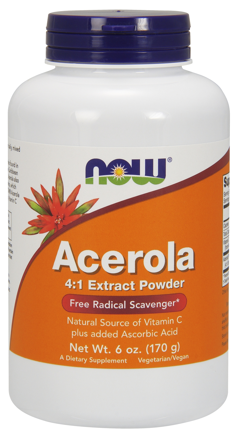 Acerola 4:1 Extract Powder 6 oz (171 g) by NOW