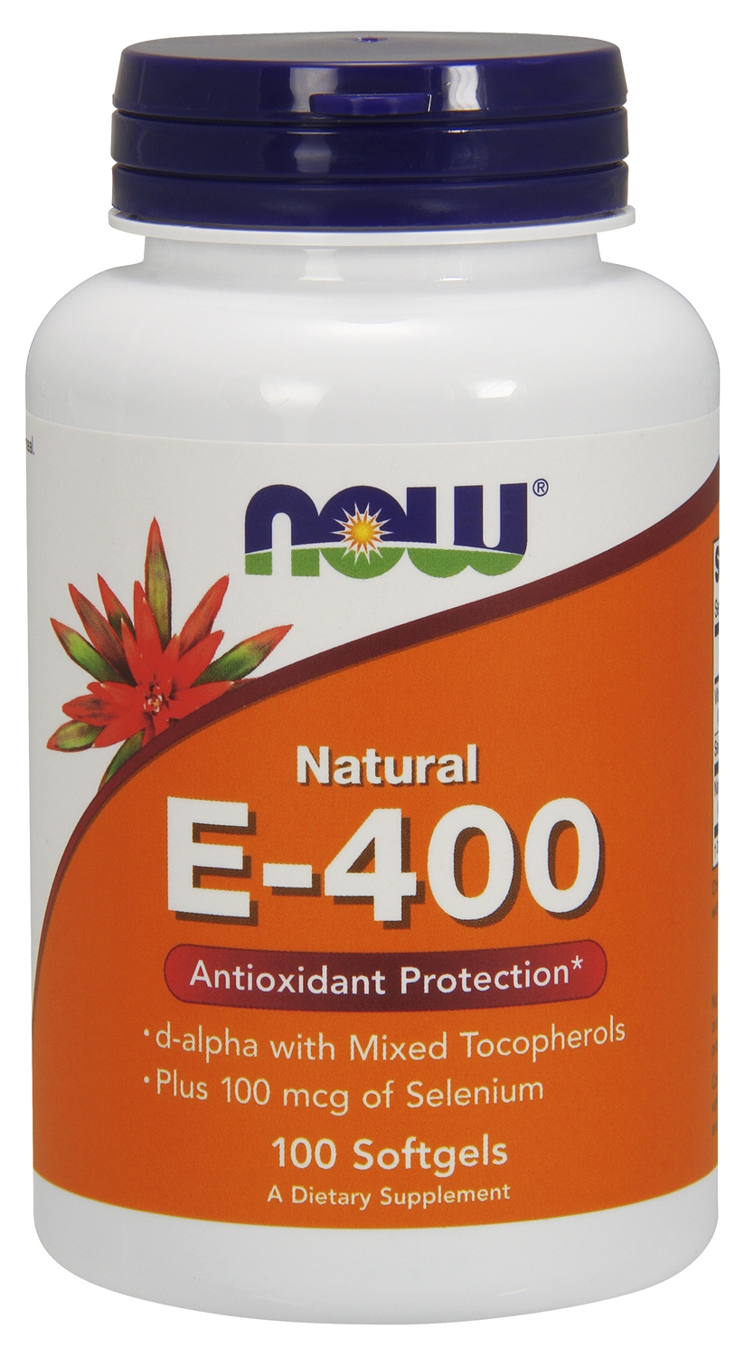 Vitamin E-400 with 100 mcg of Selenium 100 sgels by NOW