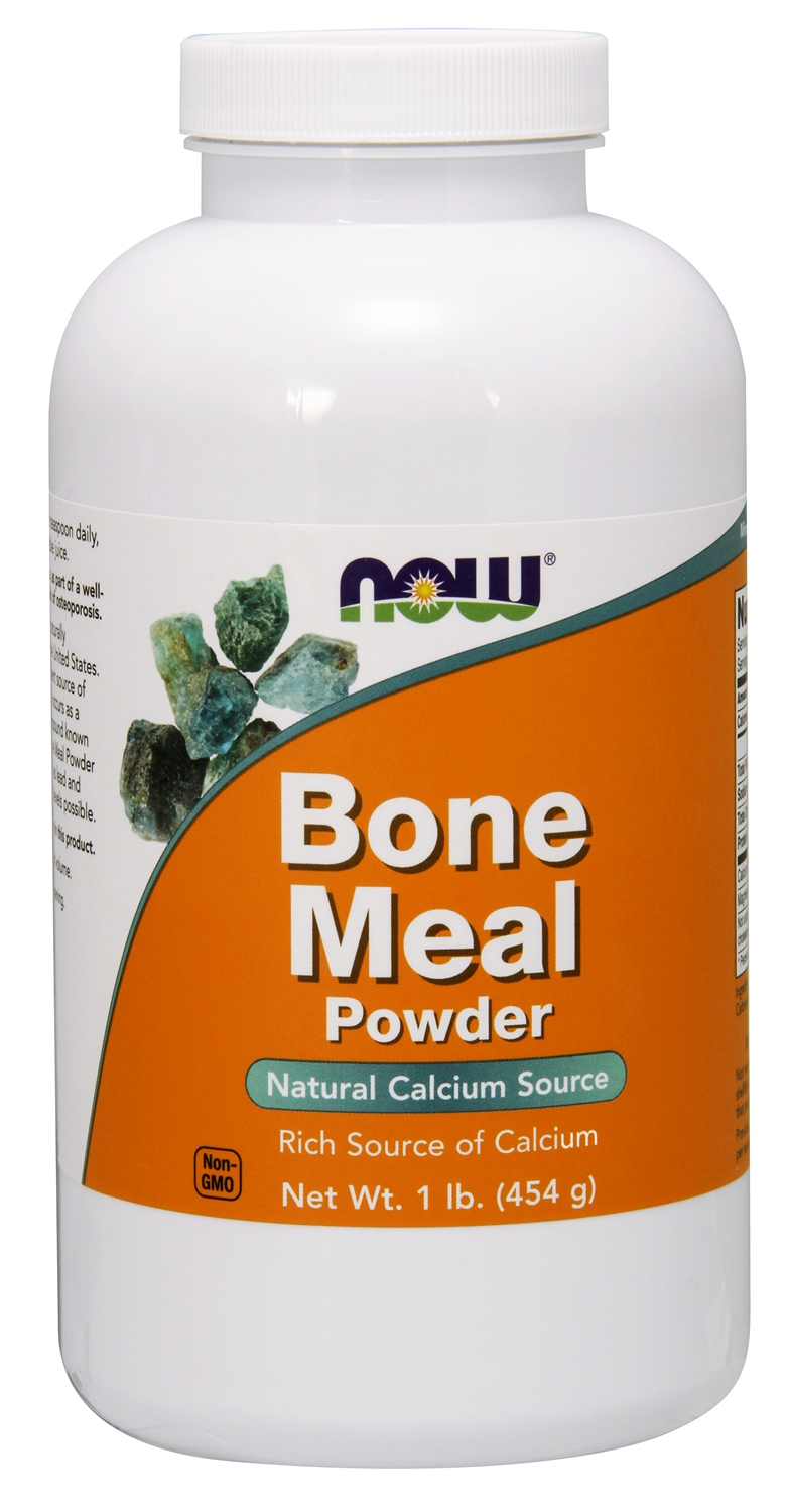 Bone Meal Powder 1 lb (454 g) by NOW