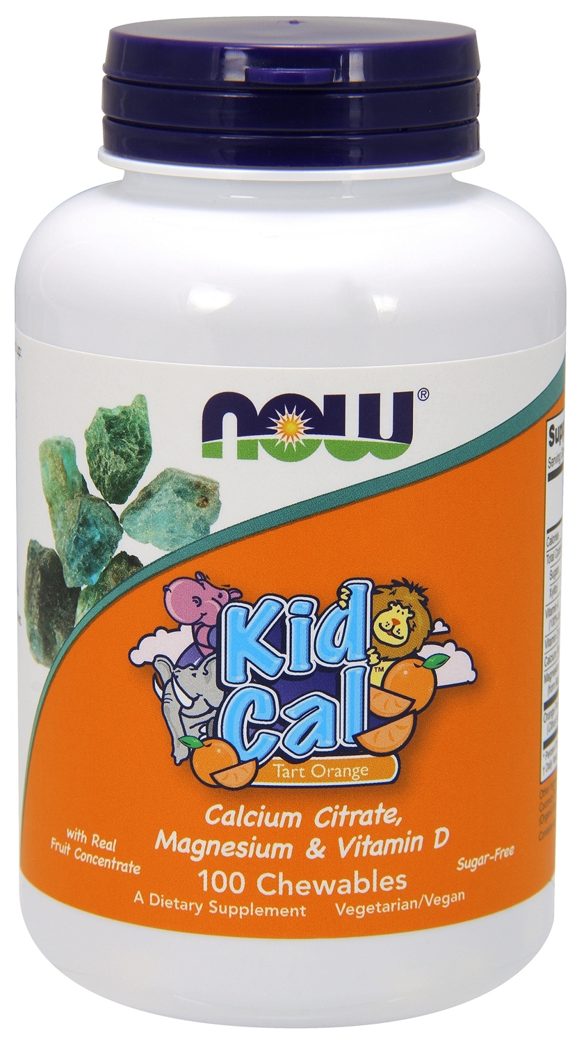 Kid Cal Orange Dream 100 Chewables by NOW