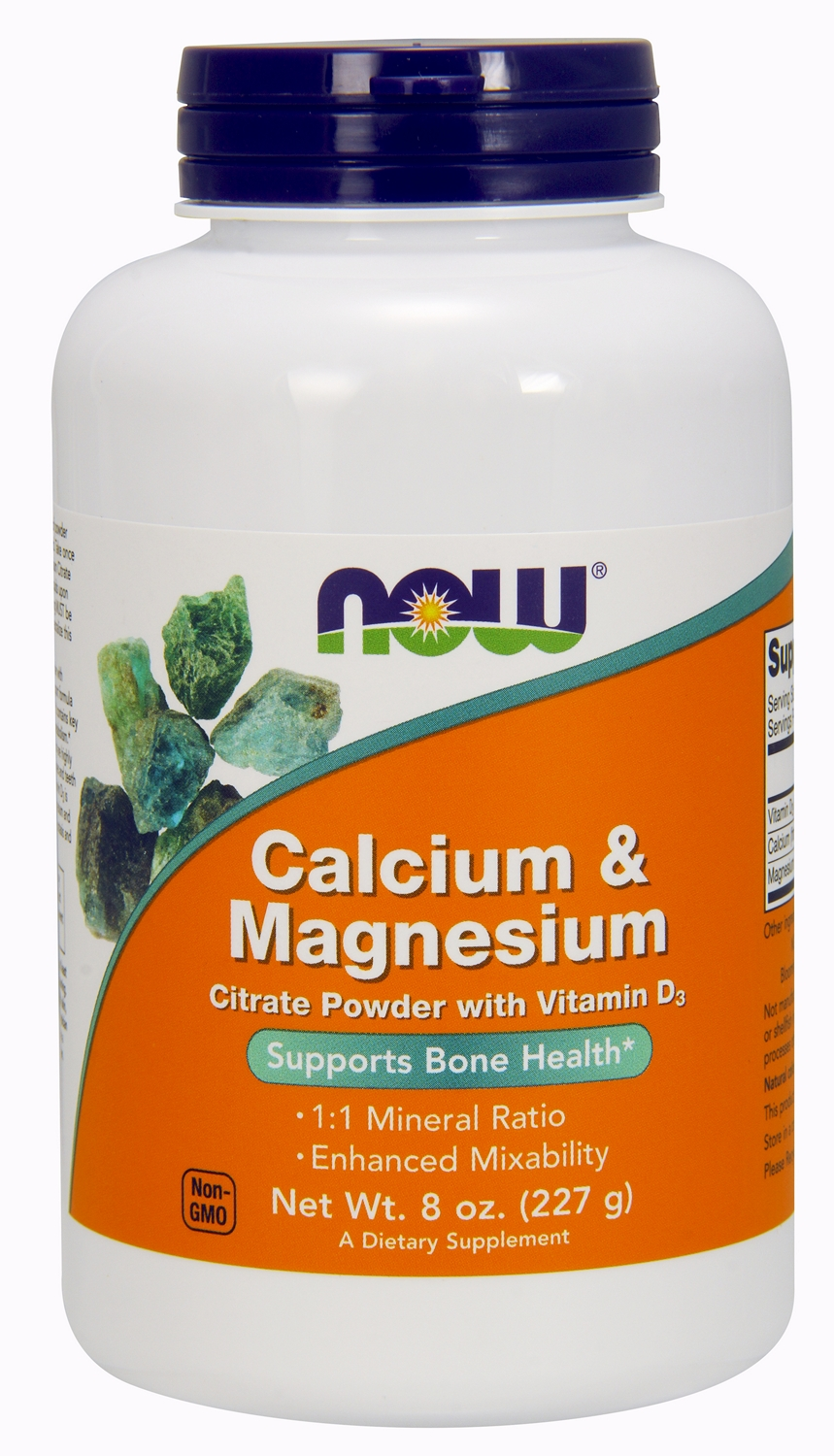 Calcium & Magnesium Citrate Powder 8 oz (227 g) by NOW