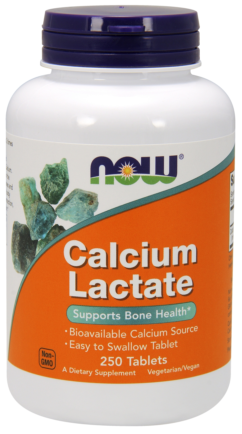 Calcium Lactate 10 Grain 650 mg 250 tabs by NOW