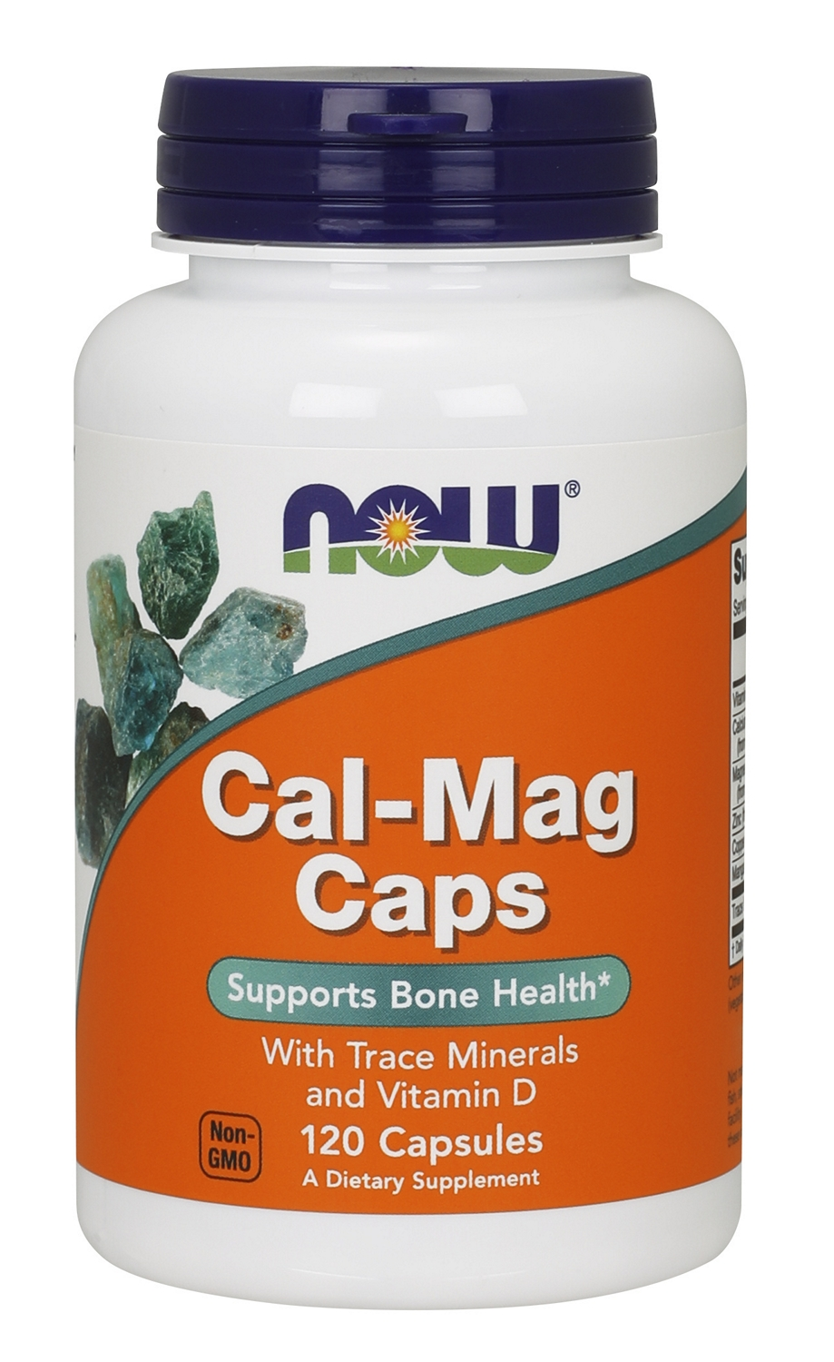 Cal-Mag Caps w/ Trace Minerals & Vitamin D 120 caps by NOW Foods
