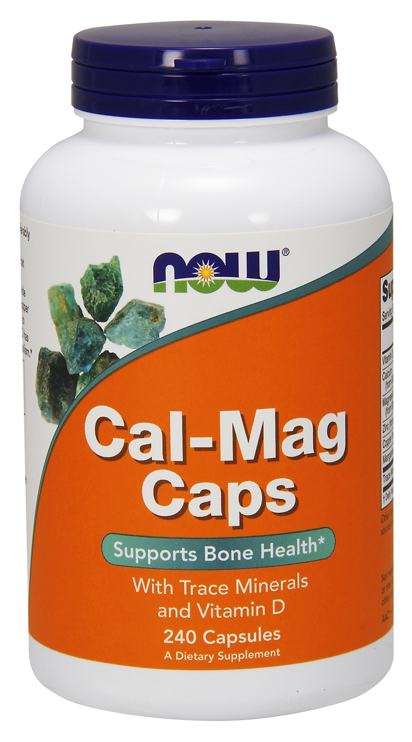 Cal-Mag Caps w/ Trace Minerals and Vitamin D 240 caps by NOW