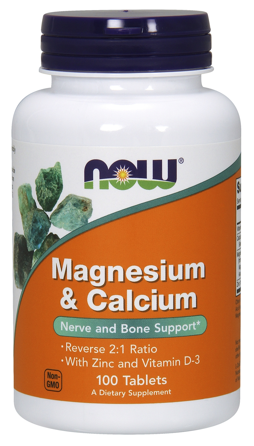 Magnesium & Calcium 100 tabs by NOW