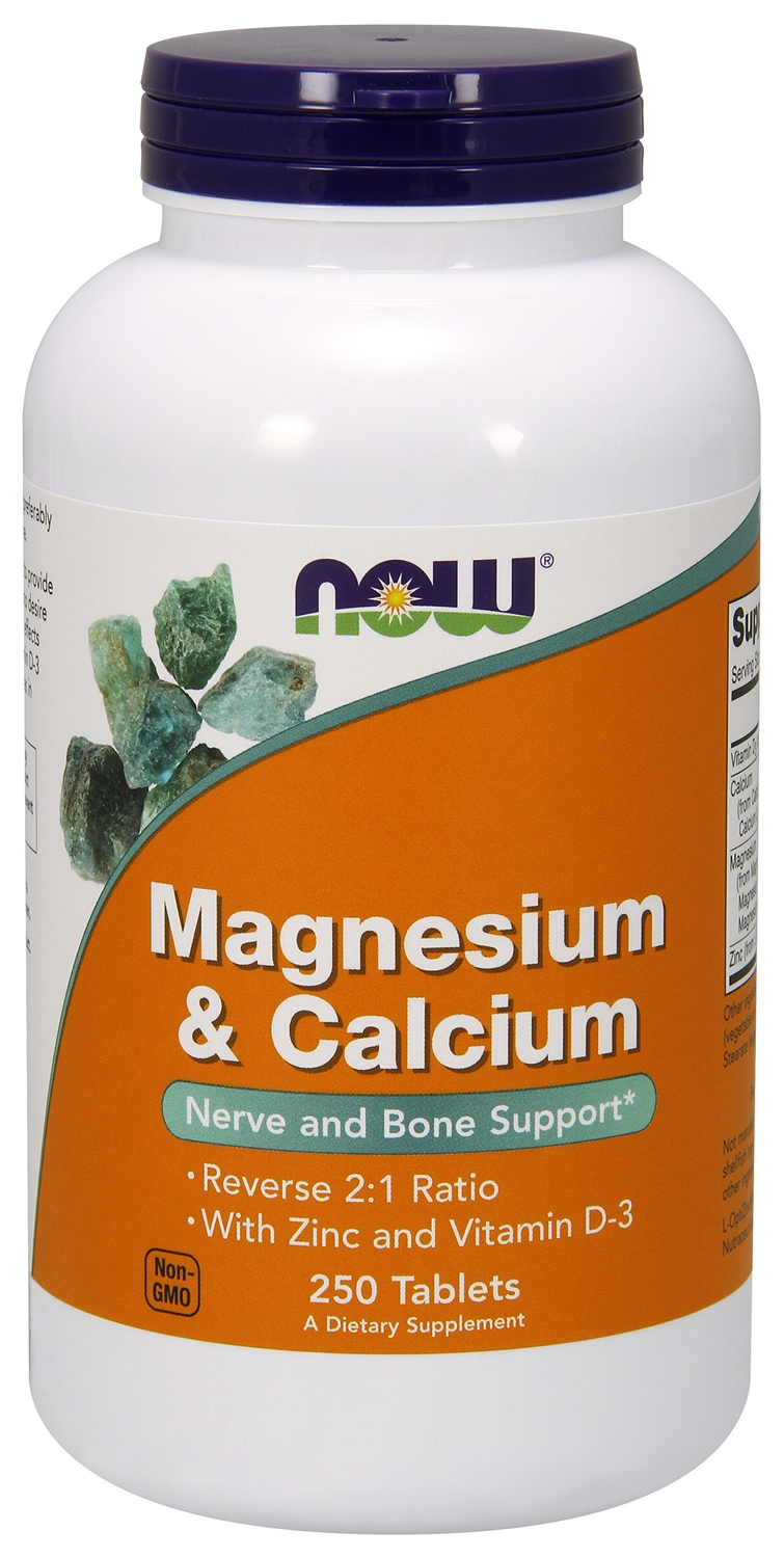 Magnesium & Calcium 250 tabs by NOW