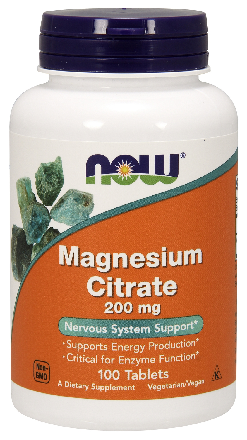 Magnesium Citrate 200 mg 100 tabs by NOW Foods