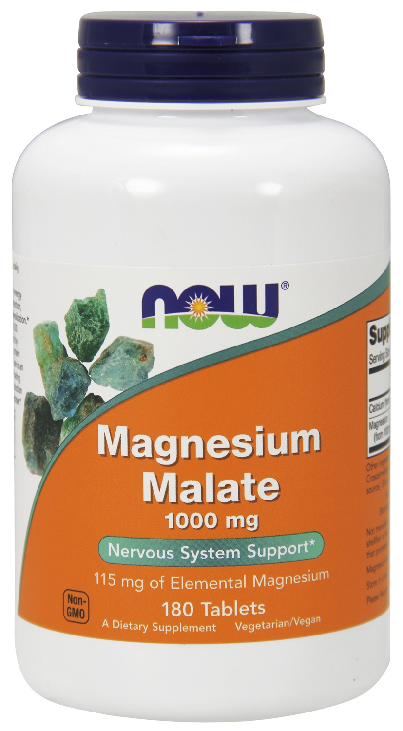 Magnesium Malate 1,000 mg 180 tabs by NOW