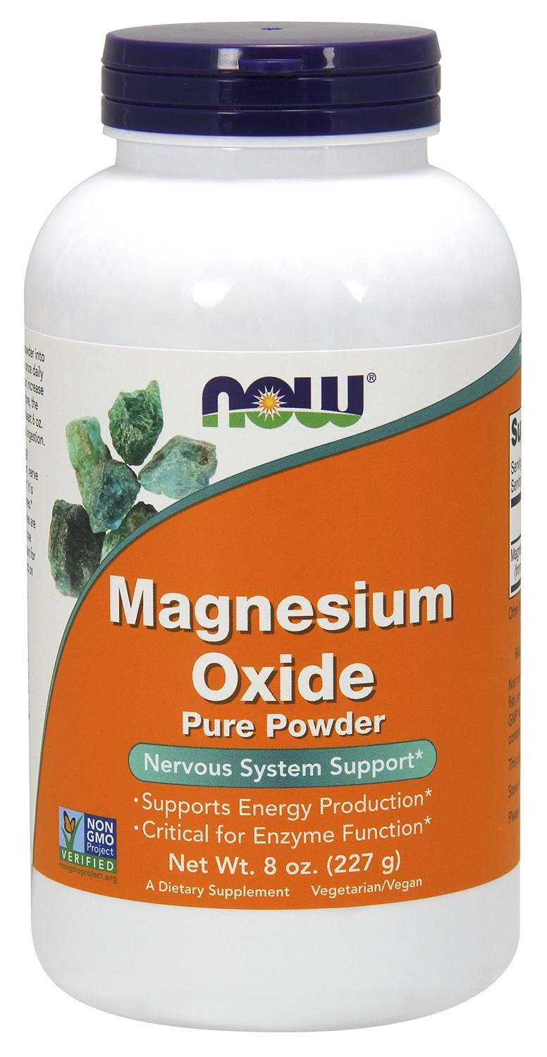 Magnesium Oxide 100% Pure Powder 8 oz (227 g) by NOW
