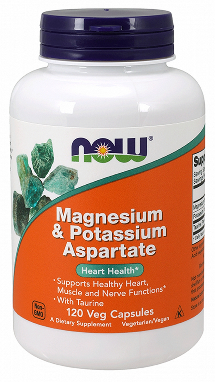 Magnesium & Potassium Aspartate w/ Taurine 120 caps by NOW