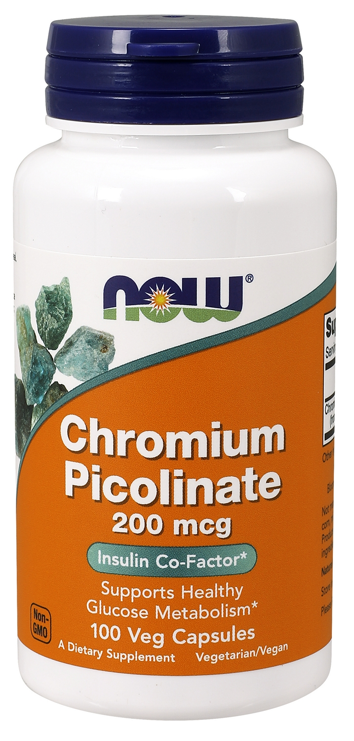Chromium Picolinate 200 mcg 100 caps by NOW
