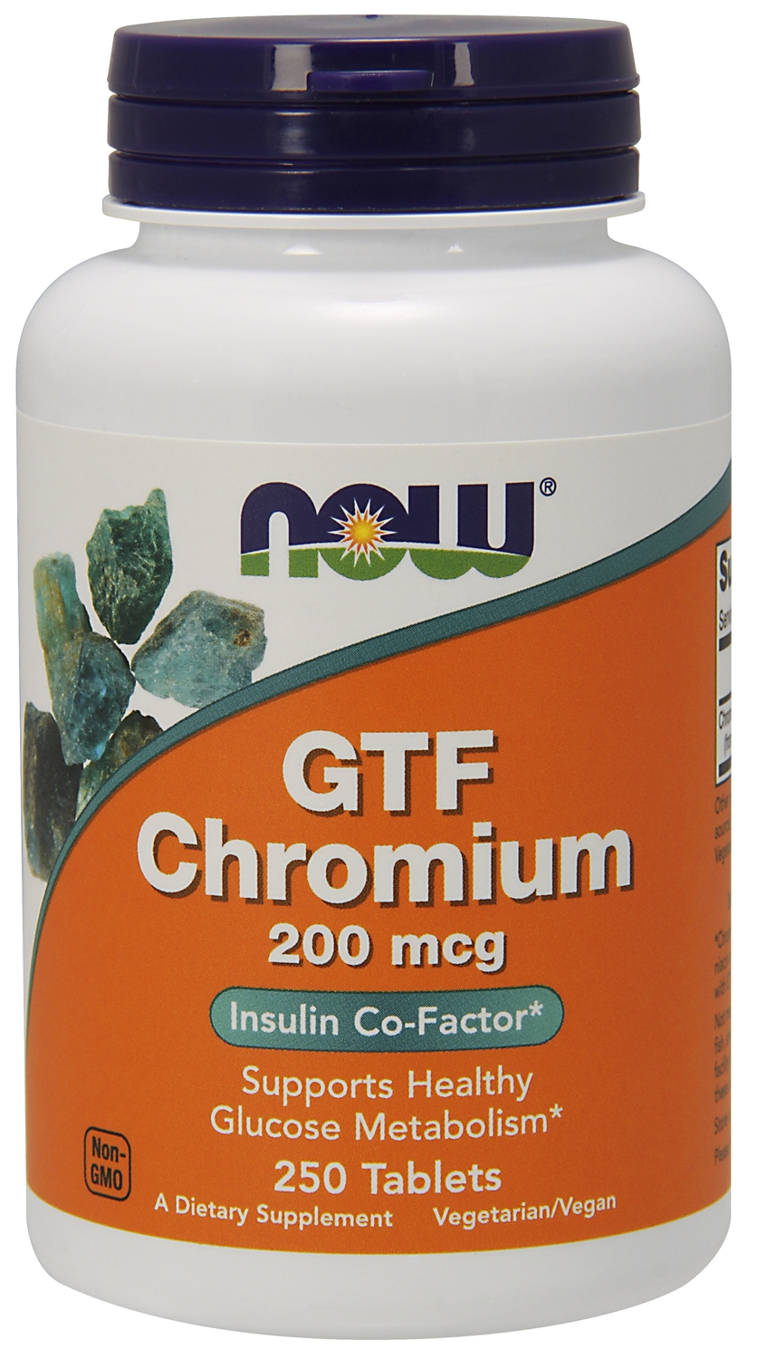 GTF Chromium 200 mcg 250 tabs by NOW