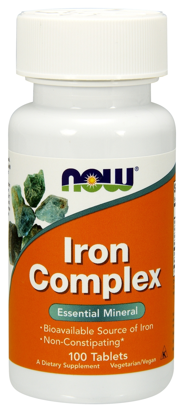Iron Complex 100 tabs by NOW Foods