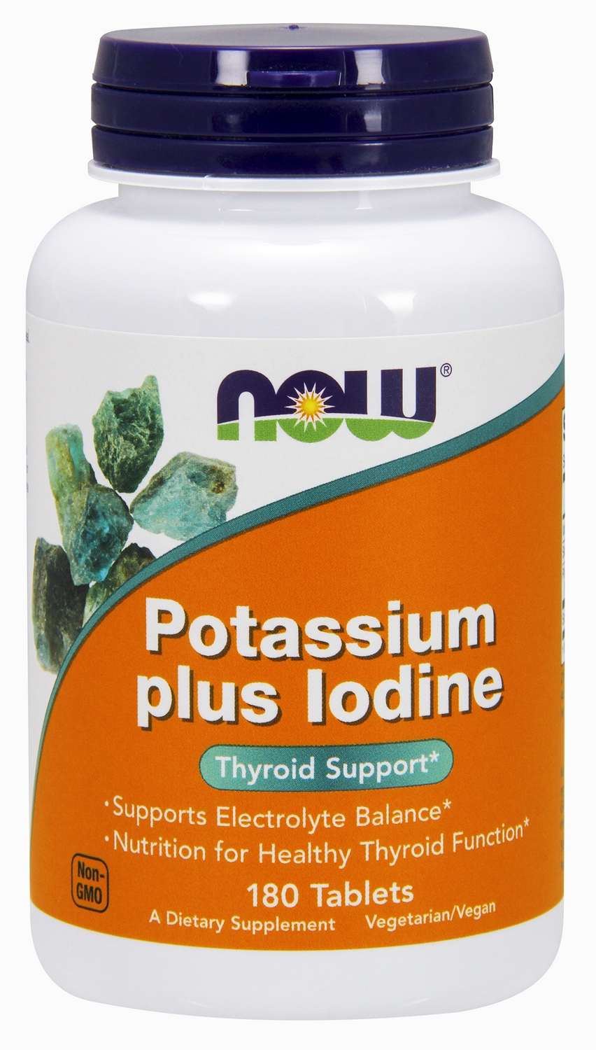 Potassium plus Iodine 180 tabs by NOW