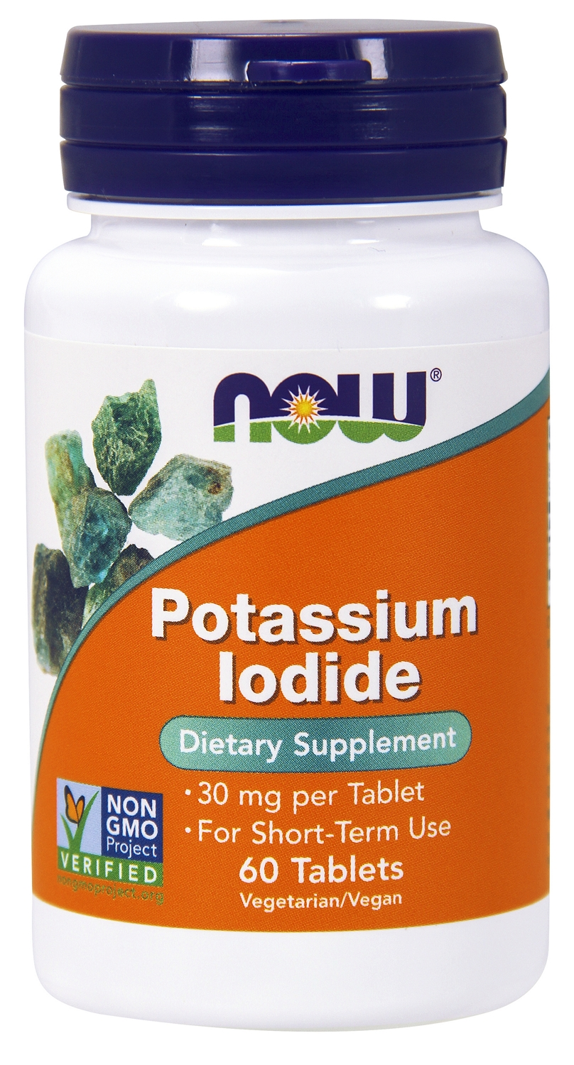 Potassium Iodide 30 mg 60 tabs by NOW