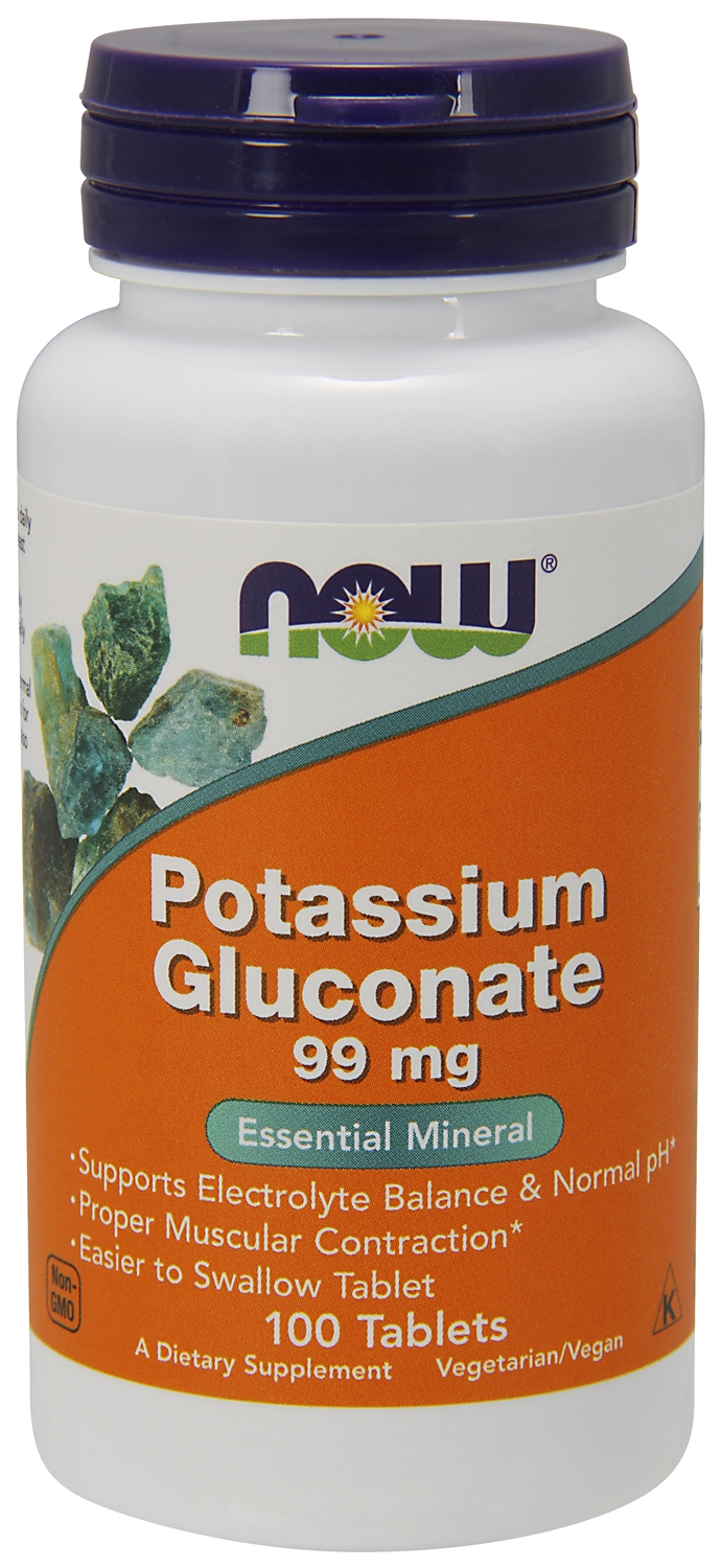Potassium Gluconate 99 mg 100 tabs by NOW