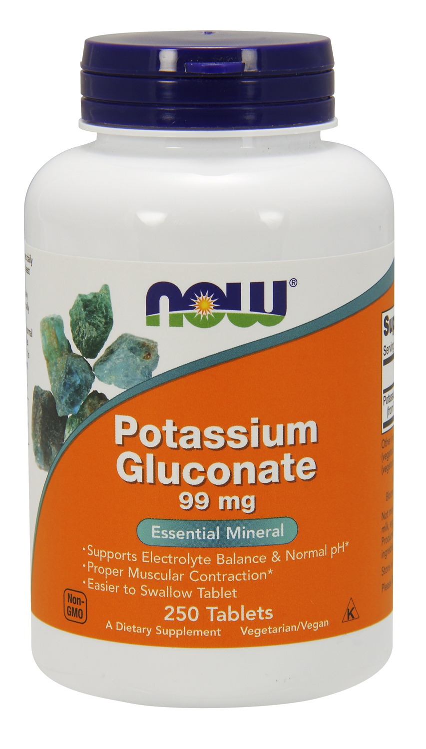 Potassium Gluconate 99 mg 250 Tabs by NOW