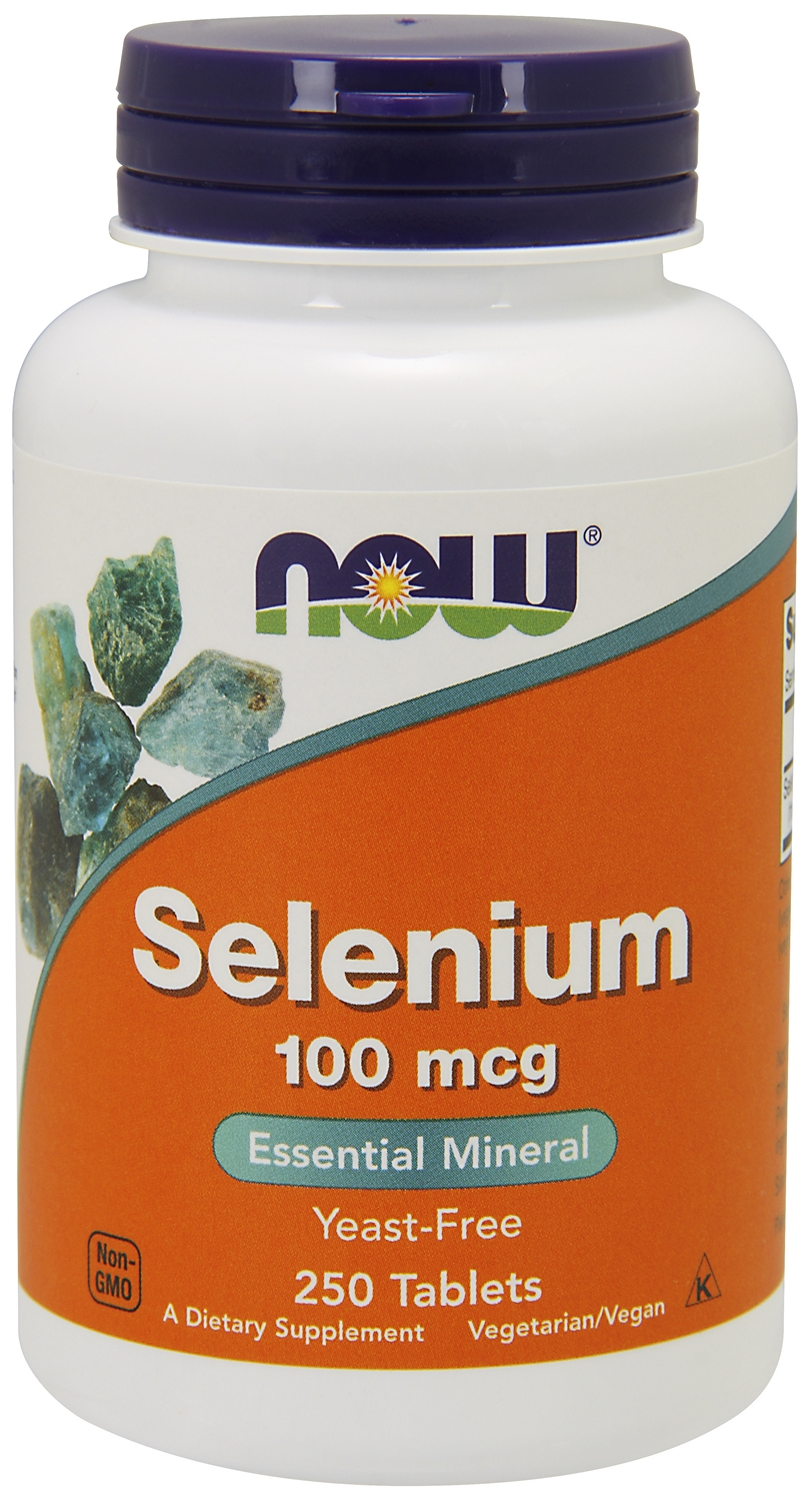 Selenium Yeast Free 100 mcg 250 Tabs by NOW