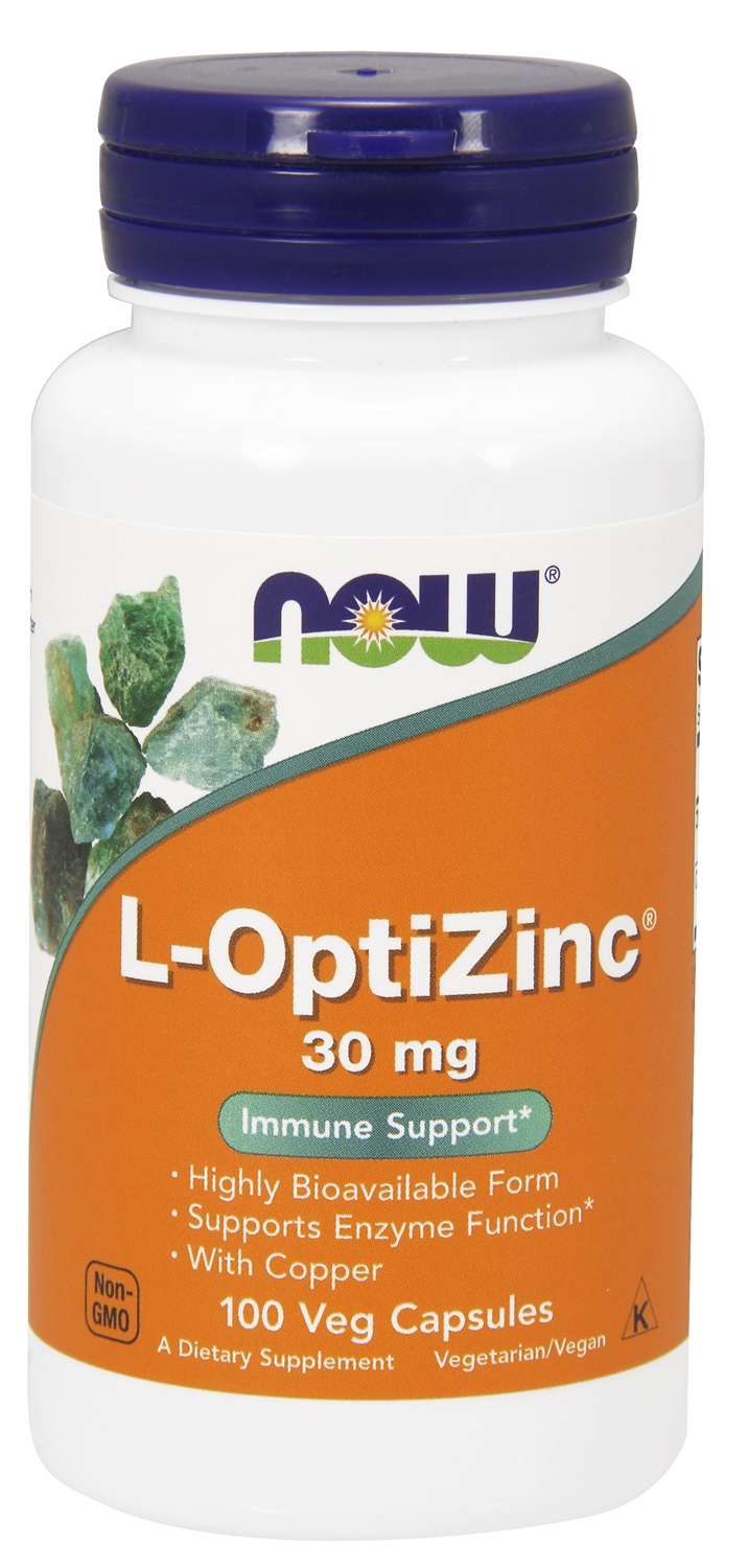 L-OptiZinc 30 mg 100 caps by NOW