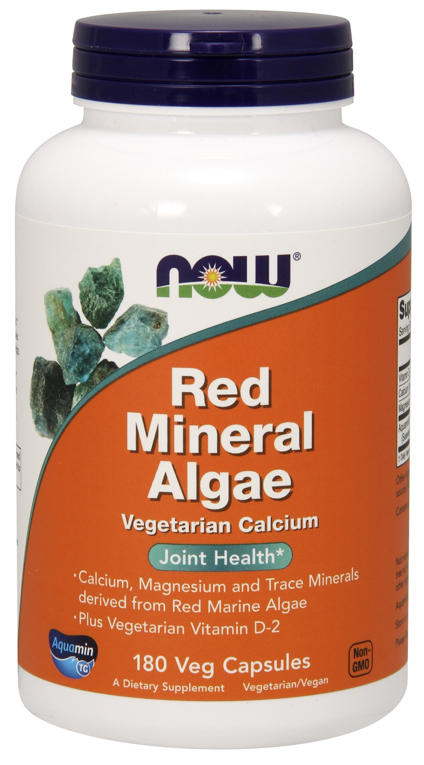 Red Mineral Algae 180 Vcaps by NOW