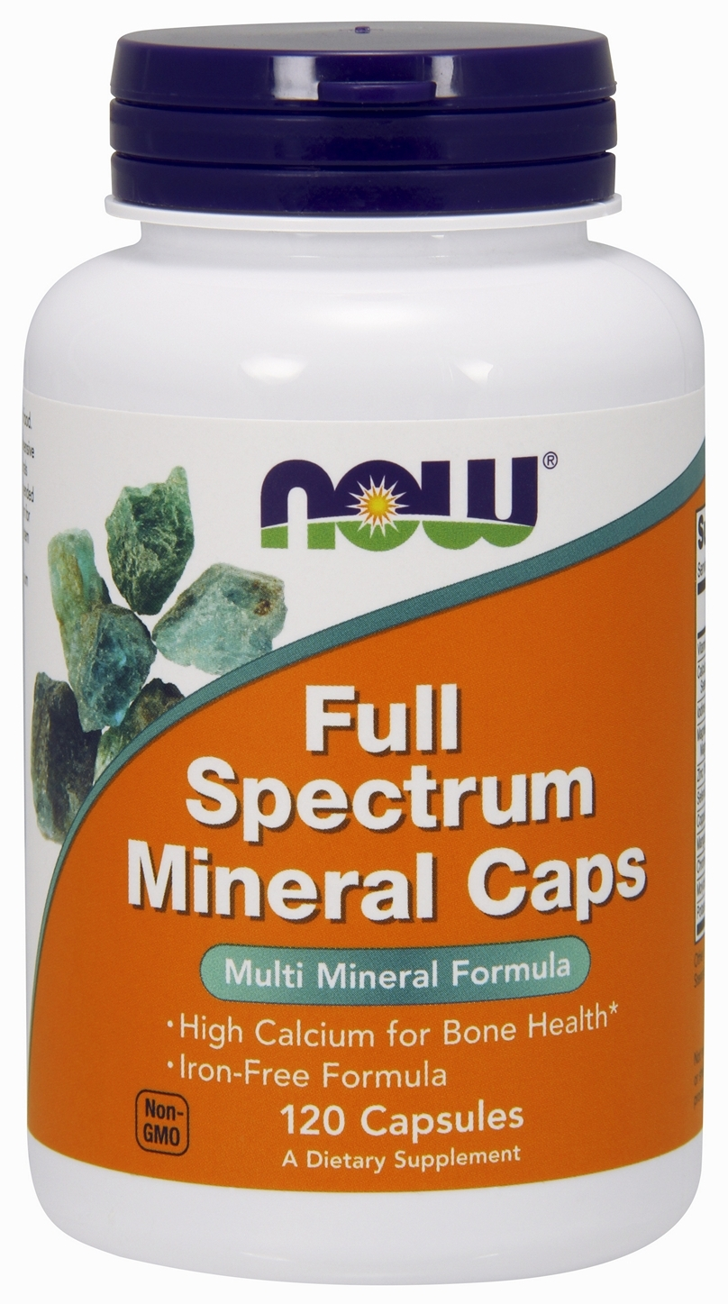 Full Spectrum Minerals Caps Iron-Free 120 caps by NOW