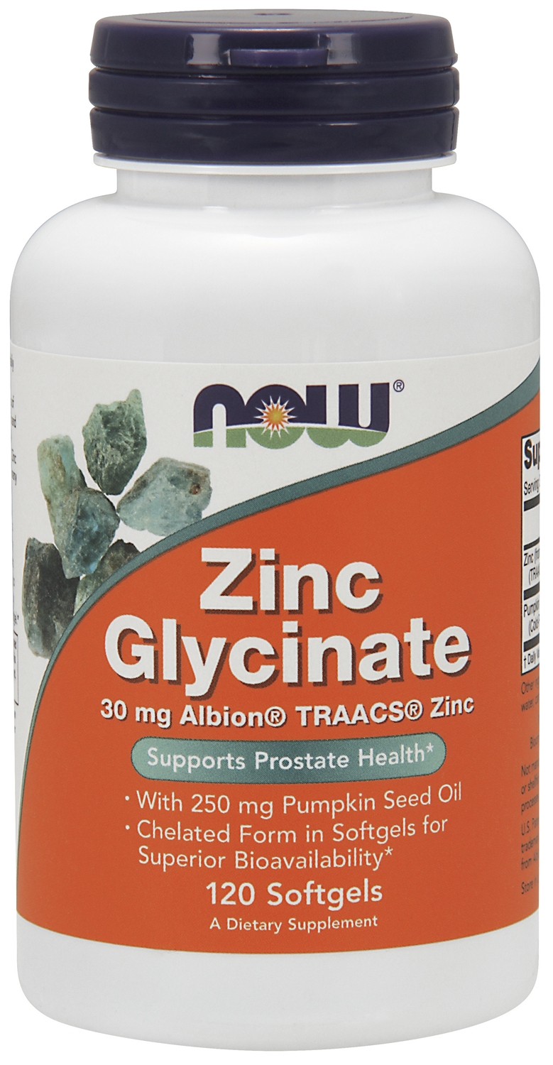 Zinc Glycinate 120 sgels by NOW