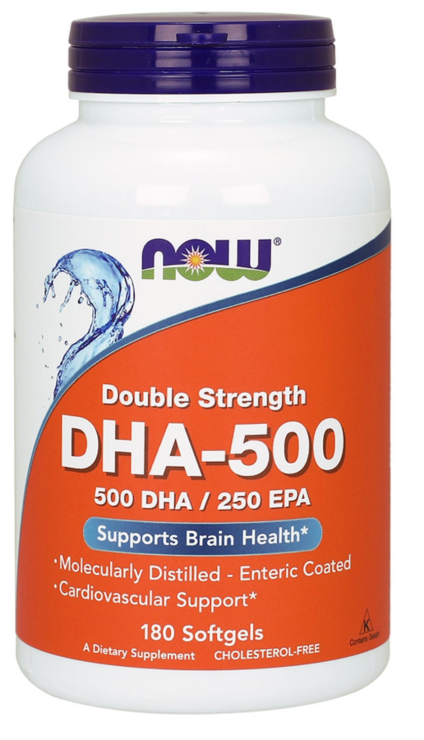DHA-500 180 sgels by NOW