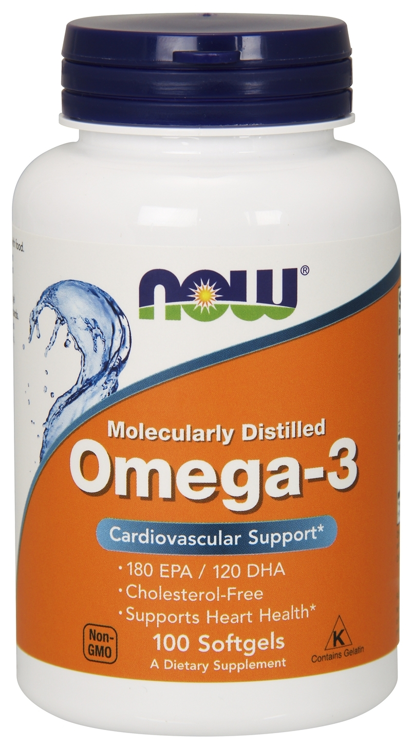 Omega-3 100 sgels by NOW