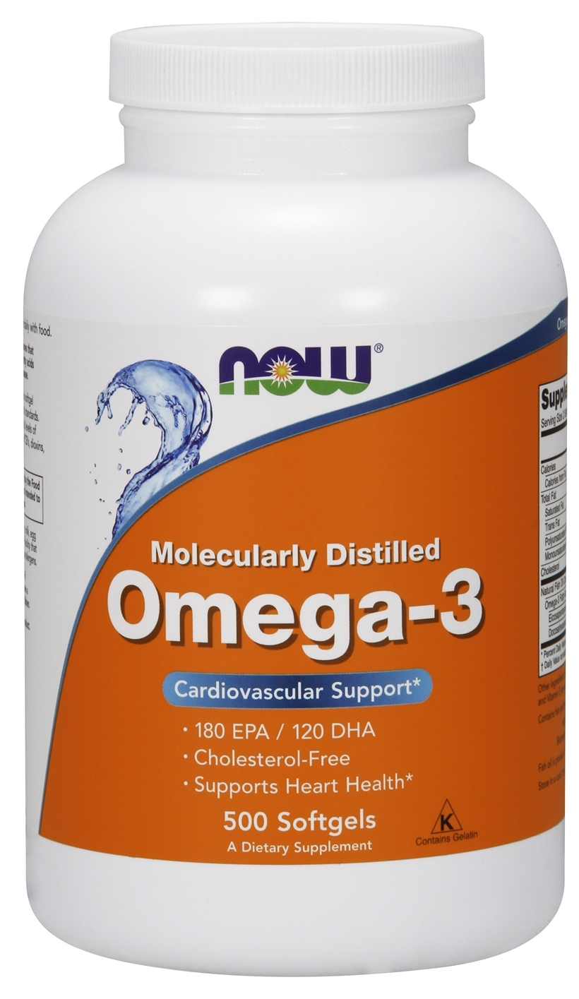 Omega-3 500 sgels by NOW