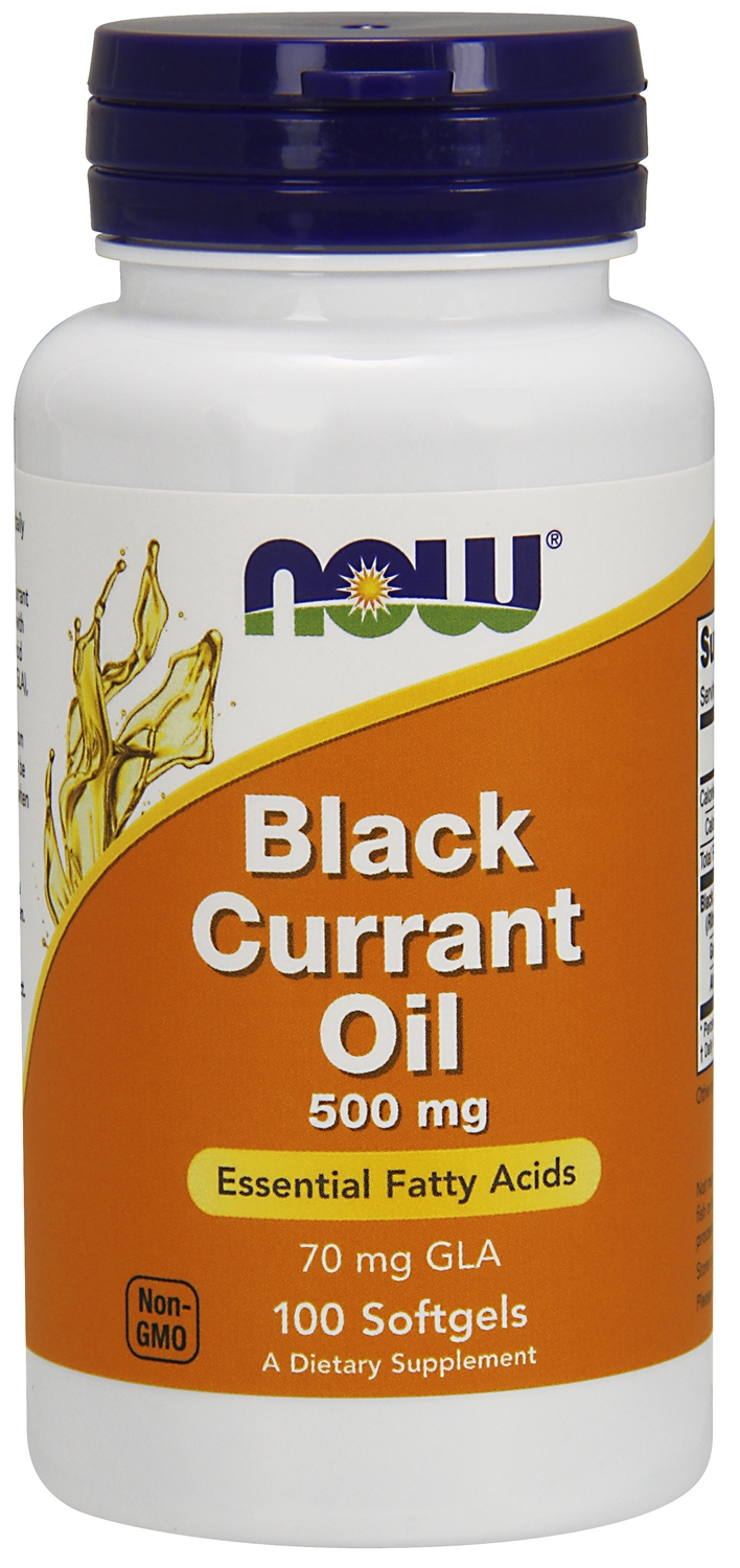 Black Currant Oil 500 mg 100 sgels by NOW