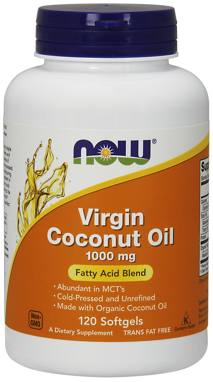 Virgin Coconut Oil 1000 mg 120 sgels by NOW
