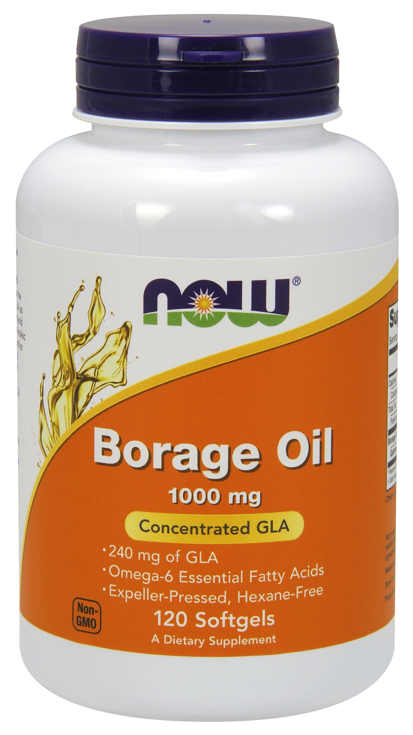 Borage Oil 1000 mg 120 sgels by NOW