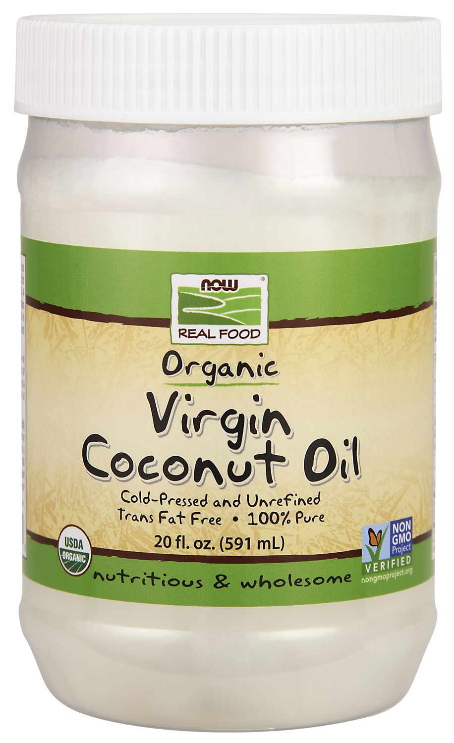Virgin Coconut Oil 20 fl oz (591 ml) by NOW