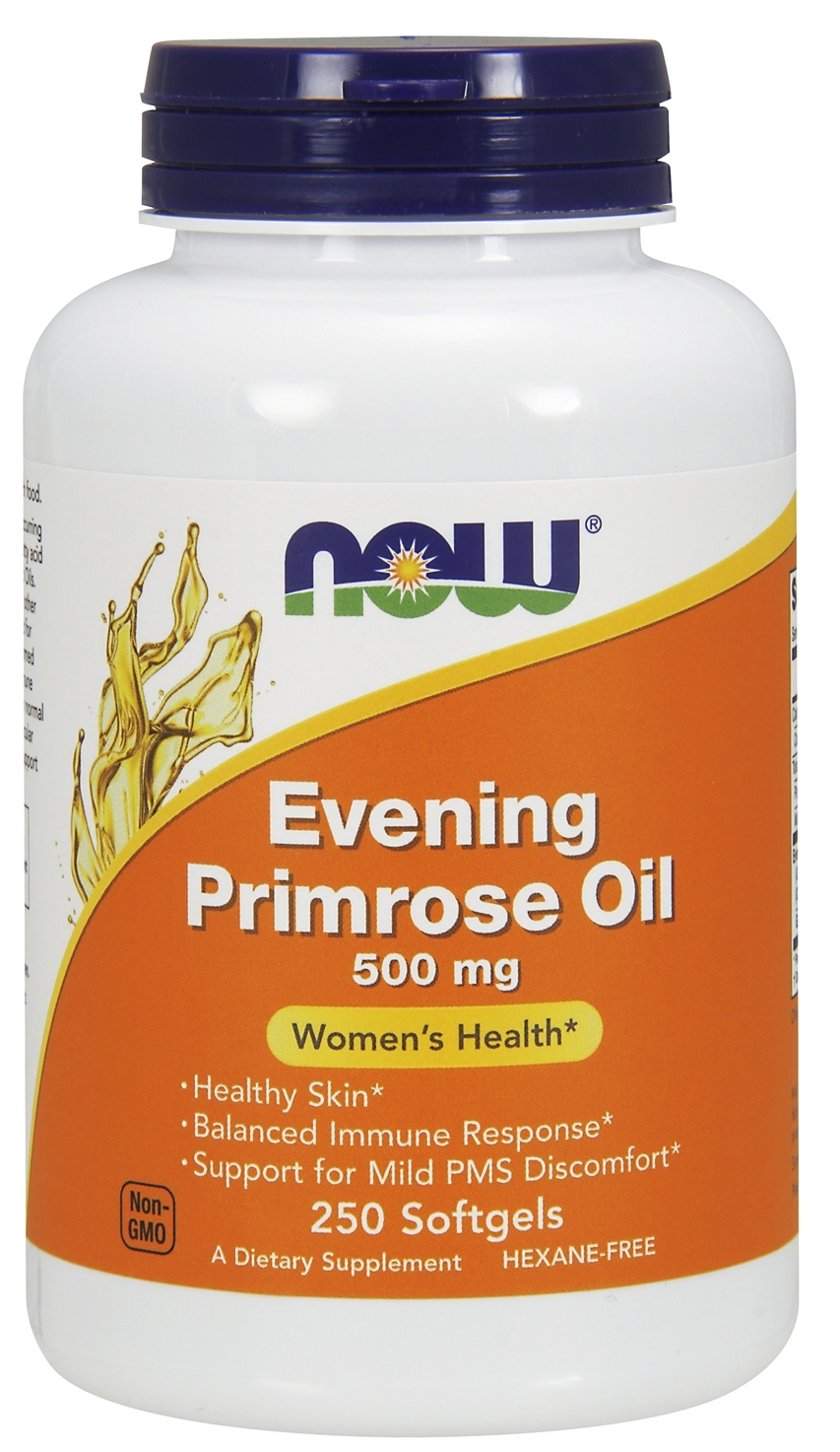 Evening Primrose Oil 500 mg 250 sgels by NOW