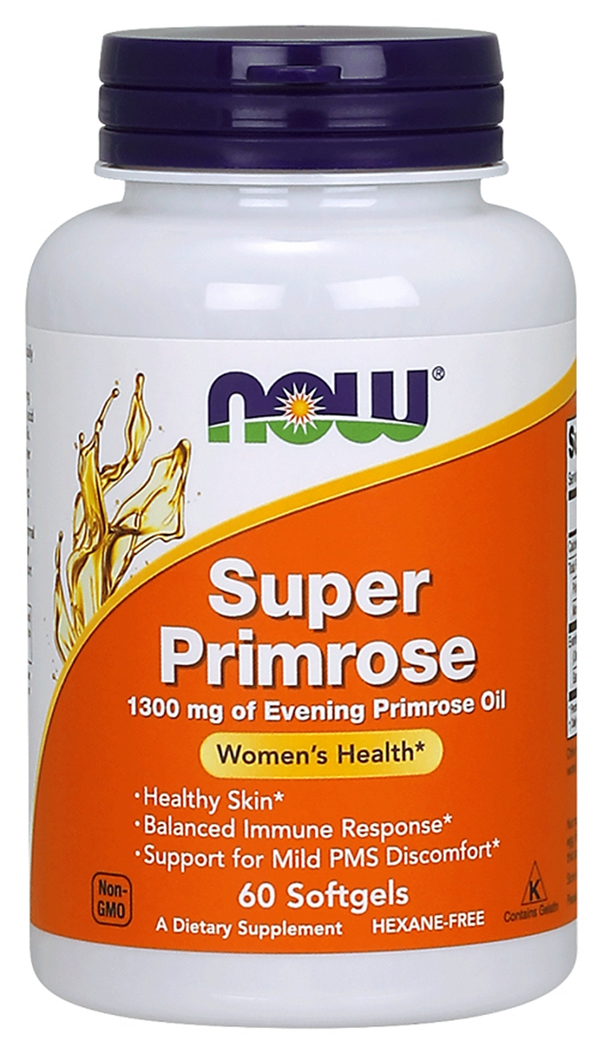 Super Primrose 1300 mg 60 sgels by NOW Foods