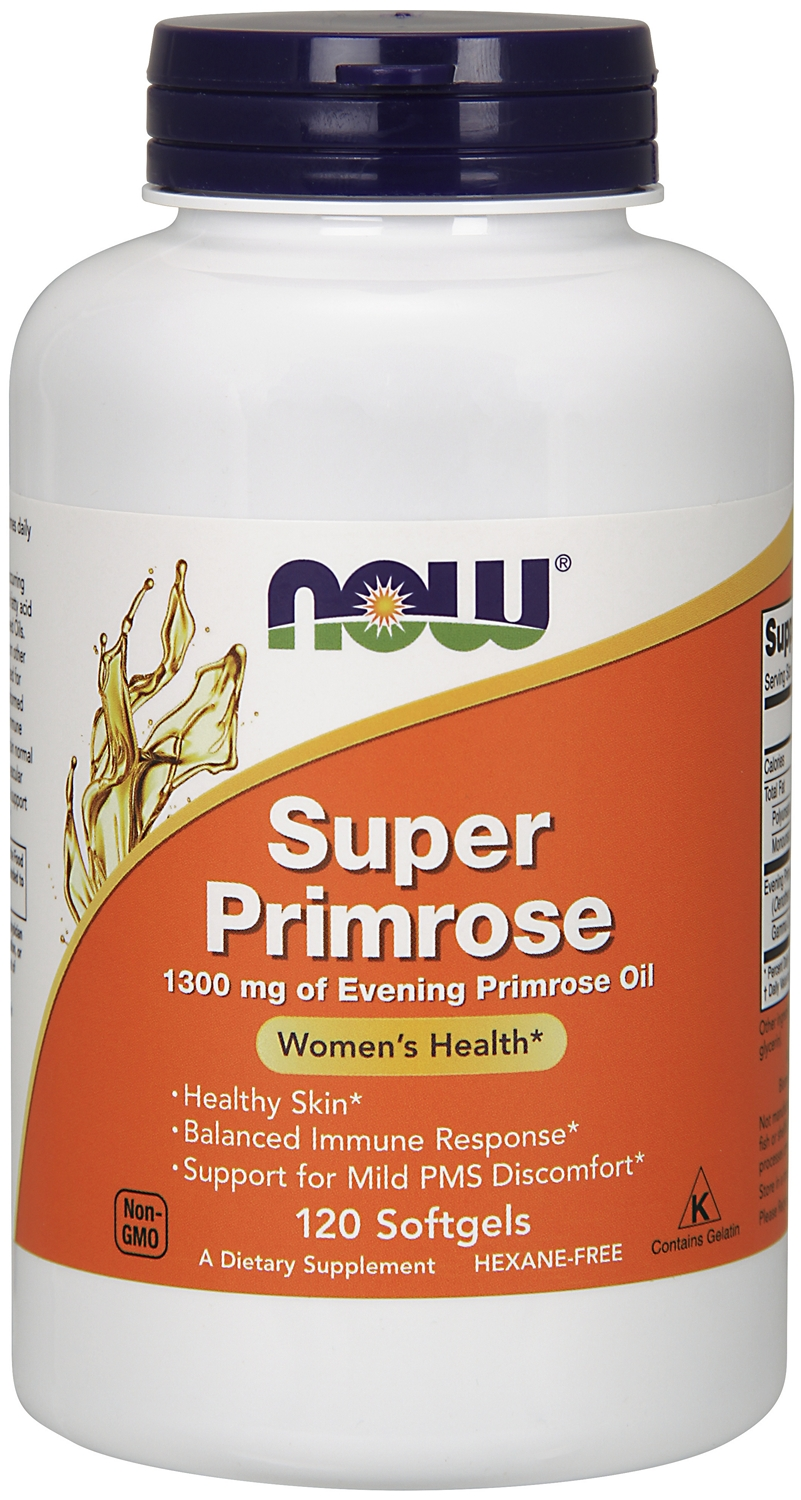 Super Primrose 1300 mg 120 sgels by NOW