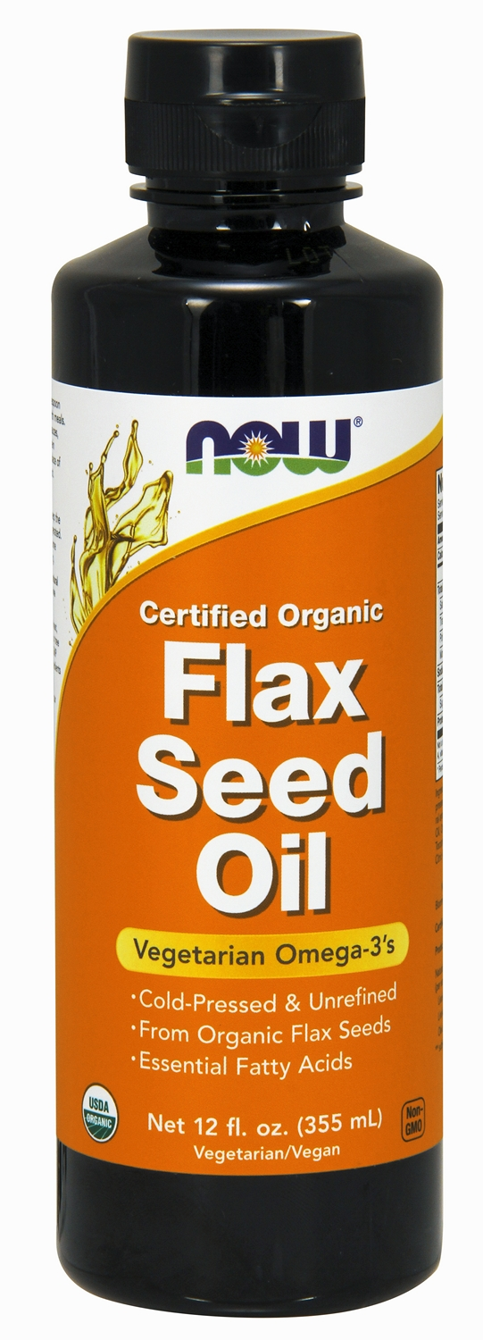 Flax Seed Oil 12 fl oz (355 ml) by NOW