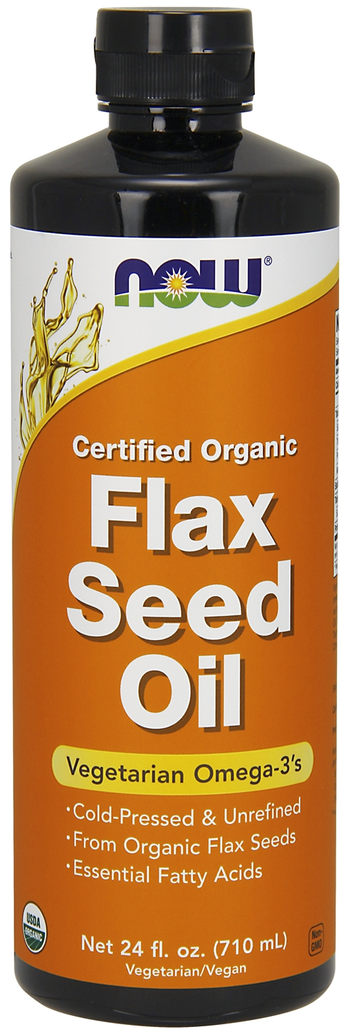 Flax Seed Oil 24 fl oz (710 ml) by NOW