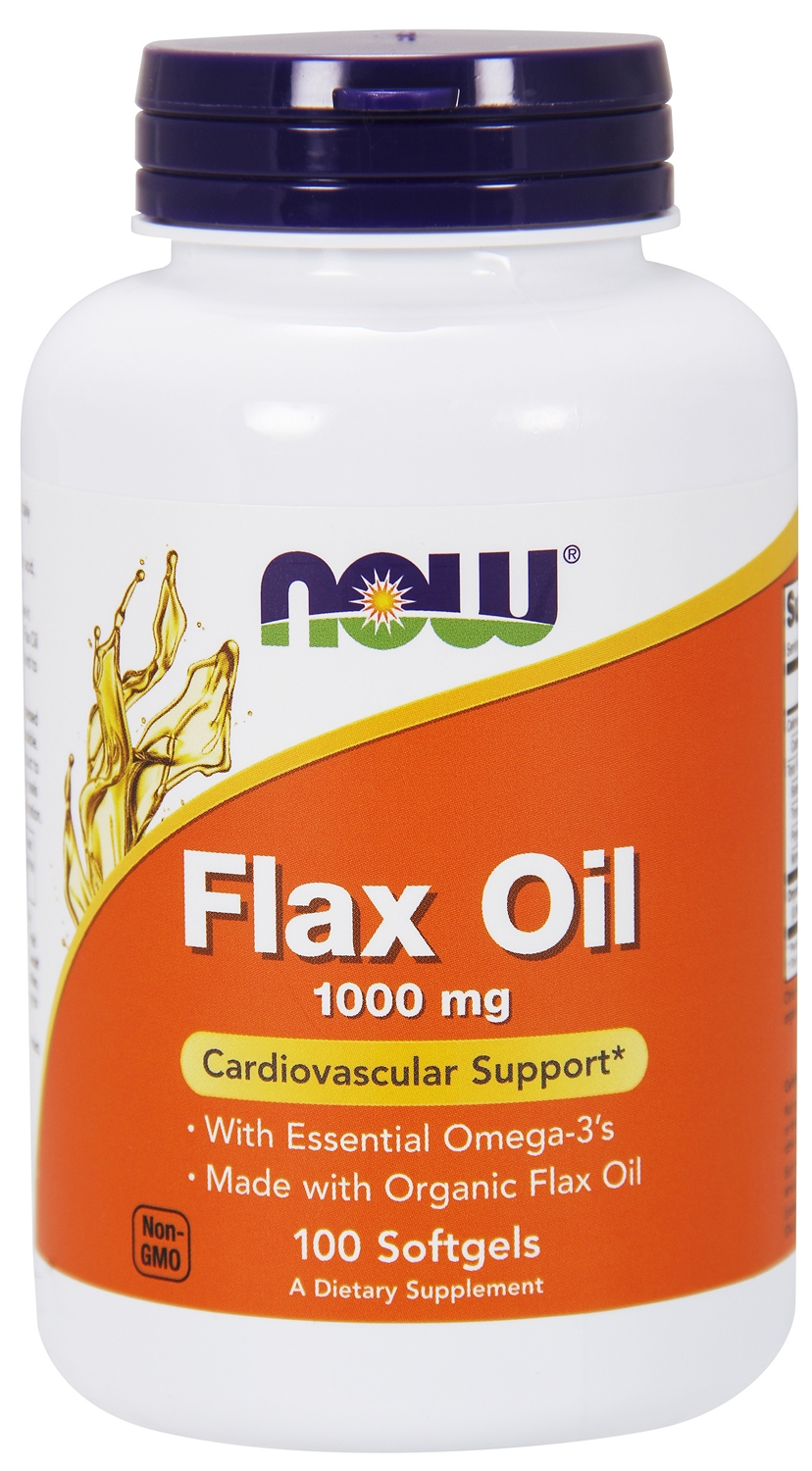 Flax Oil 1000 mg 250 sgels by NOW