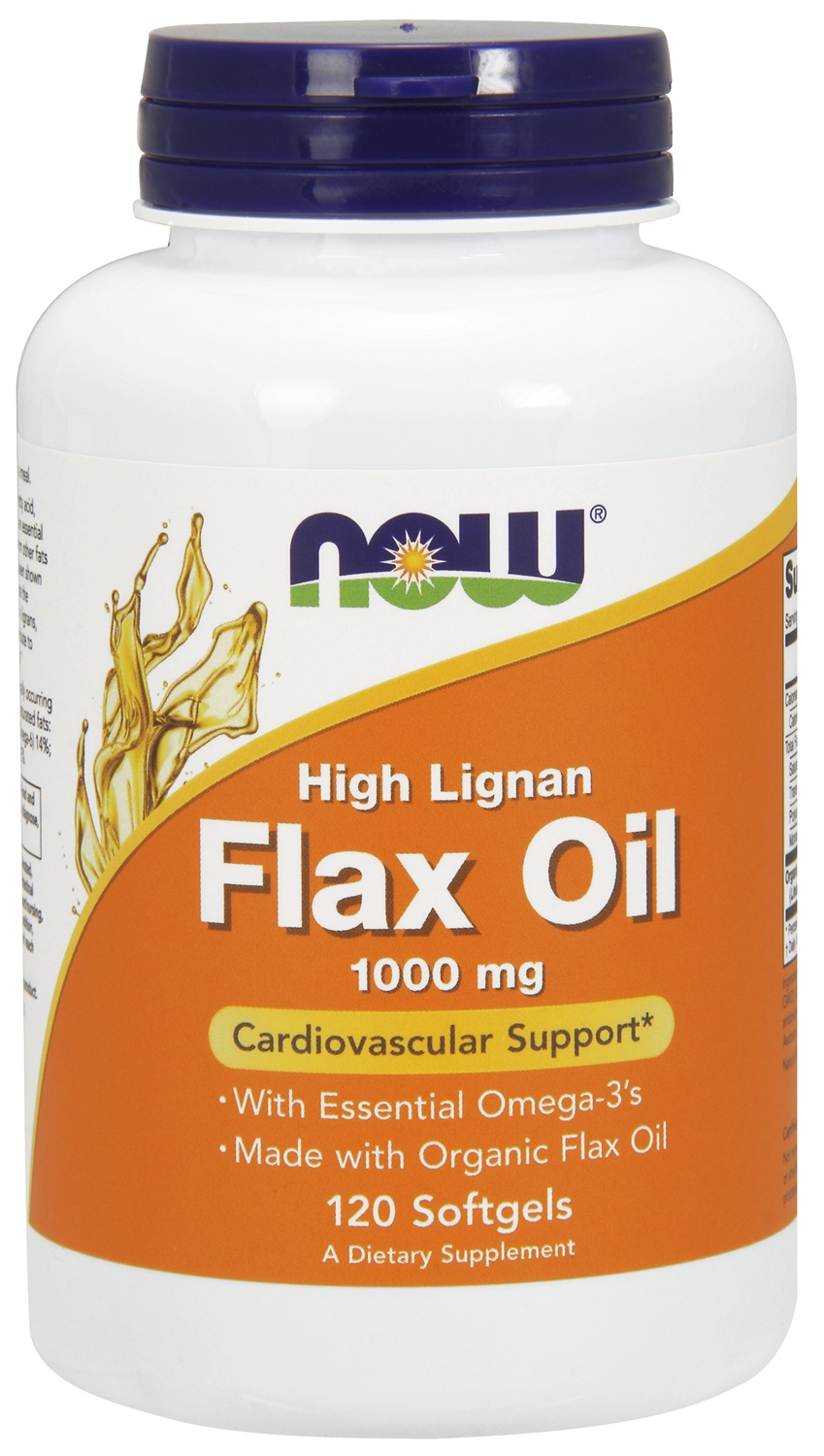 Flax Oil (High Lignan) 1000 mg 120 sgels by NOW