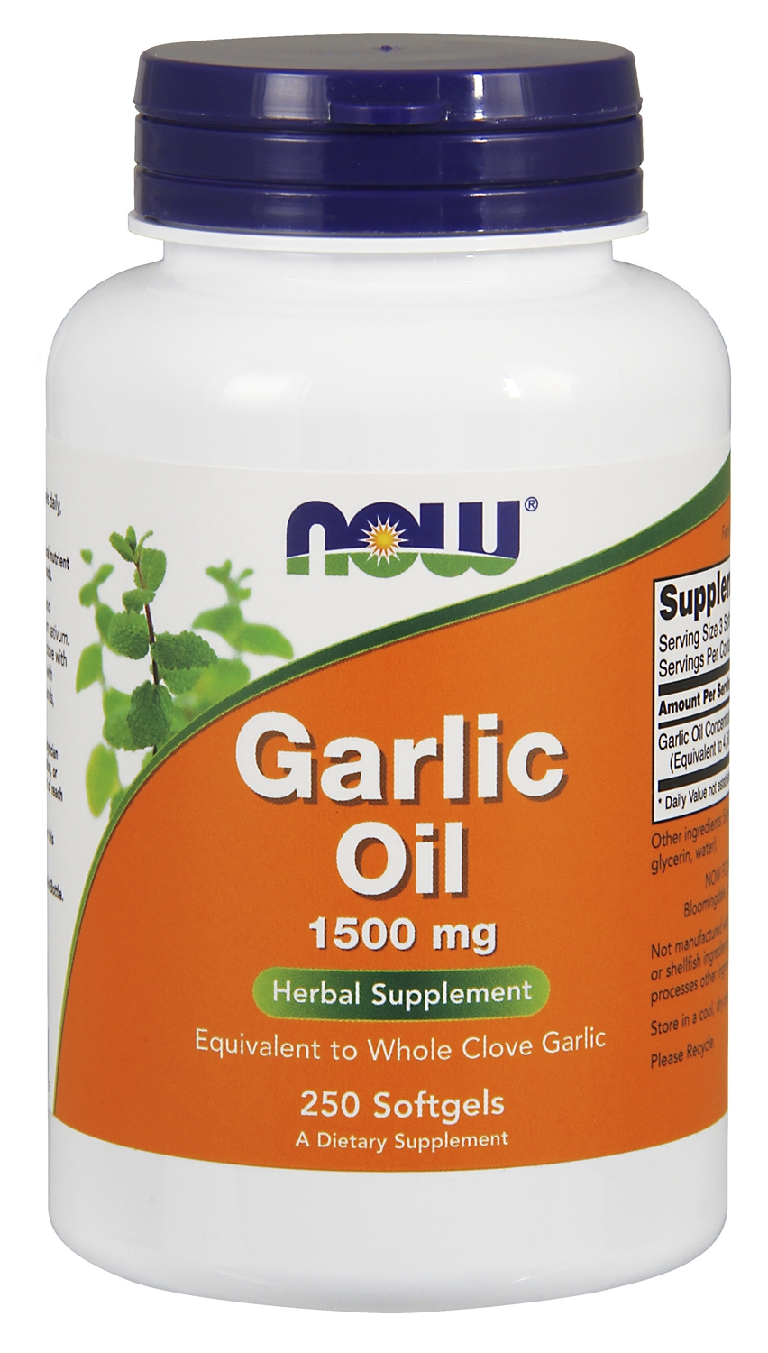 Garlic Oil 1500 mg 250 sgels by NOW