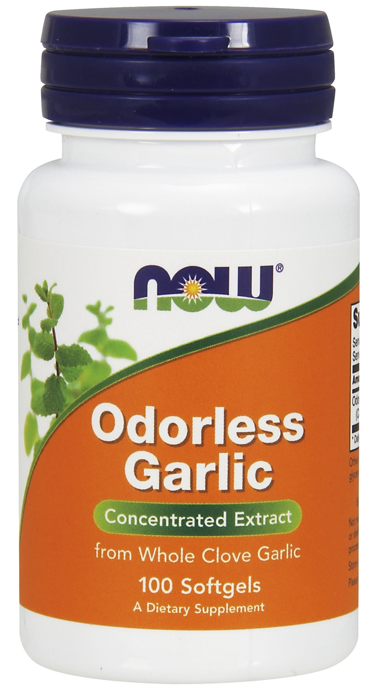 Odorless Garlic Concentrated Extract 100 sgels by NOW Foods